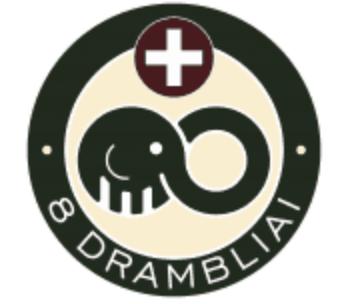 8 drambliai