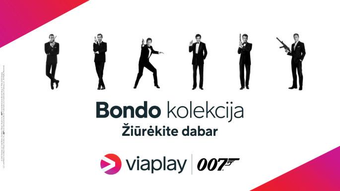 Žiūrėk filmus apie Džeimsą Bondą!